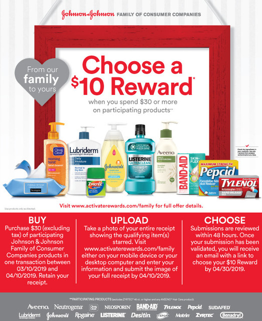 Johnson and Johnson Rewards