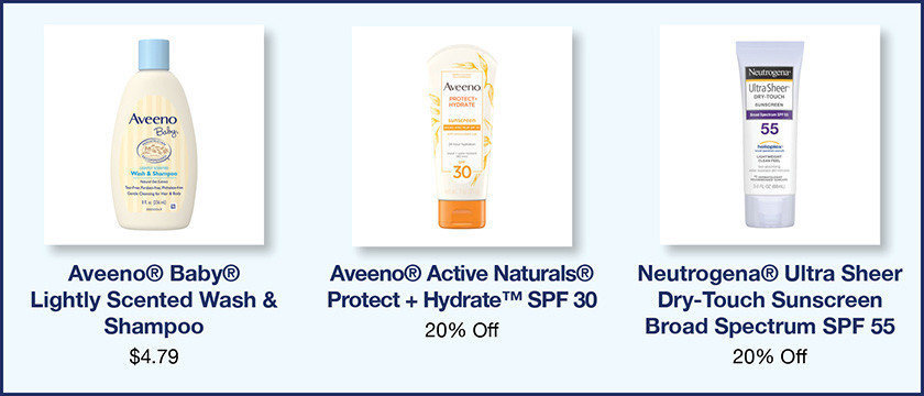 Johnson and Johnson Aveeno